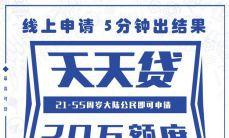 天津银行 天天贷 信用贷款 上线